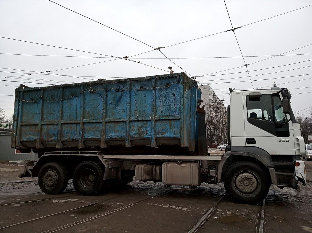 Вывоз мусора контейнером 27 м3 в Москве и Московской области